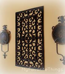 Wall Decor Top 20 Rustic Wrought Iron How To Hang With Regard