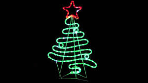 Flowing Ribbon Style Christmas Tree Led Rope Light Silhouette