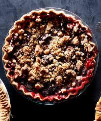 Cranberry Strawberry Crumb Pie