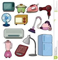 Kitchen Clipart Electrical Appliance Cartoon Home Icon Stock Vector