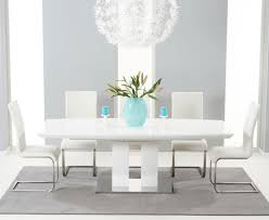 100 White Gloss Extending Dining Table And Chairs High 6 Room Design Ideas