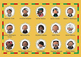 Black History Month Important People Poster