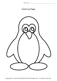 Coloring Pages Simple Sheets Easy For Toddlers Page Penguin And Flowers Colouring Of