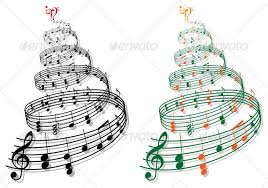 Christmas Tree With Music Notes Vector