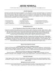 Law Enforcement Officer Resume Template Police Templates Example
