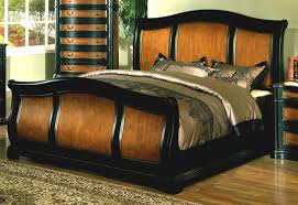 the fancy and comfortable sleigh bed frame for a good night sleep