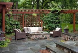 Patio privacy screen ideas landscape traditional with shade garden