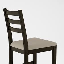 möbel ikea lerhamn stuhl in schwarzbraun lehnstuhl esszimmer