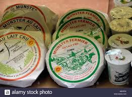 munster cheese dairy stock photos munster cheese