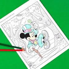 Mickey Mouse St Patricks Day Hidden Picture Coloring Page