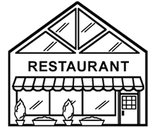 Pin Restaurant Clipart Coloring 15