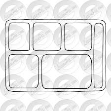 Lunch Tray Outline For Classroom Therapy Use