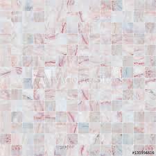 Pink White Mosaic Marble Tile Texture Seamless