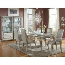 Michael Amini Living Room Sets by Michael Amini Hollywood Loft 4 Leg Dining Set In Frost