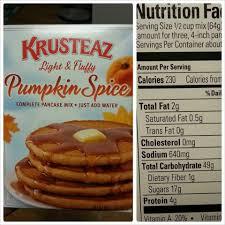 Green Mountain Pumpkin Spice K Cups Calories by Shannon U0027s Lightening The Load Krusteaz Pumpkin Spice Pancakes