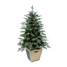 Potted Christmas Trees For Sale by Home Accents Holiday 4 Ft Pre Lit Balsam Artificial Christmas