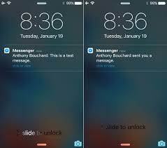Hide Messenger notification previews from the Lock screen