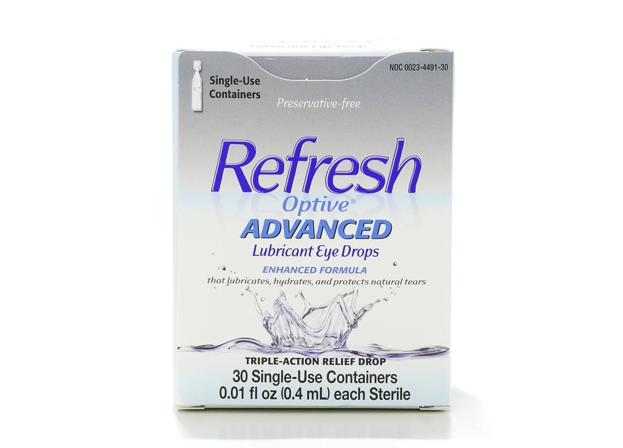 Refresh Optive Advanced Lubricant Eye Drops - 30 Vials