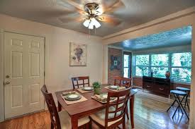 Dining Room Ceiling Fans Fan For Tropical With Dark Wood Table By
