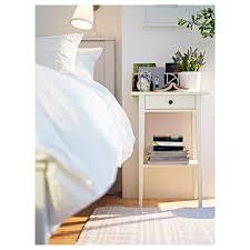 hemnes white bedside table 46x35 cm ikea nachttisch