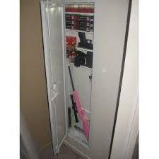 Steel Gun Cabinet Walmart by Stack On Iwc 55 Full Length In Wall Gun Storage Cabinet 48 99