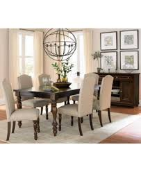 kelso 7 pc dining set dining table 6 side chairs furniture