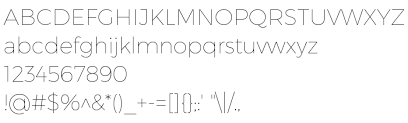 Montserrat Hairline free font on AllFont