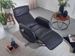 wohnling relaxsessel mit massagefunktion kunstleder schwarz ruhesessel elektrisch verstellbar sessel mit liegefunktion bequemer