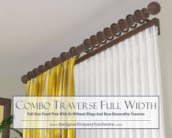 Decorative Traverse Rods With Pull Cord by Traverse Rods Interiordecorating For Decorative Traverse Curtain