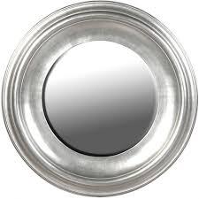 eleganter runder spiegel mit massivem rahmen silber in antik optik lackiert