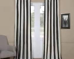 Yellow And White Curtains Etsy by Stripe Curtains Etsy
