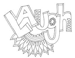 Laugh Word Coloring Pages