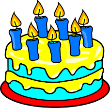 birthday cake with candles clipart
