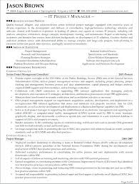 Sample It Project Manager Resume Objectives Objective Information Technology Example For Techno