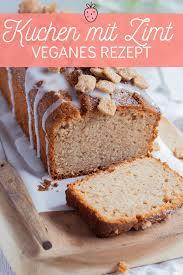 veganer kuchen mit zimt und apfelmus