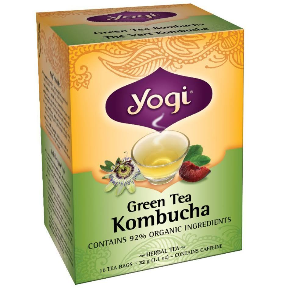 Yogi Green Tea - Kombucha, 16ct