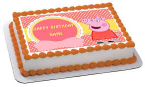 peppa pig cake decorations peppa pig 1 edible birthday cake or cupcake topper edible prints