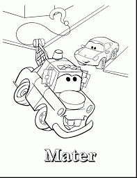 Amazing Mater Coloring Pages With Lightning Mcqueen