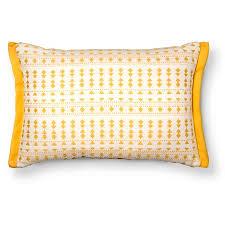 woven geo lumbar throw pillow yellow threshold target