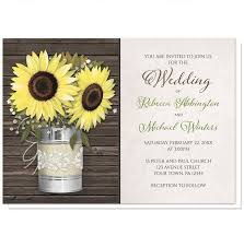 Rustic Sunflower Wedding Invitations Burlap And Lace Tin Can With
