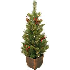 General Foam Plastics Potted Artificial Christmas Tree Decorated