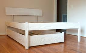 trundle bed frame bare look