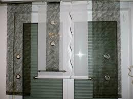 moderne gardinen set schiebegardinen flächenteile schiebevorhang