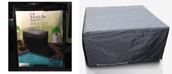 housse de protection pour canapé de jardin housse de protection pour salon et table de jardin carré 111 x 111 cm