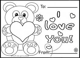 Printable Valentines Day Cards Pictures Of Valentine Card Coloring Pages