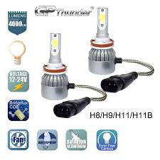 cree led headlight kit h8 h9 h11 6000k low beam fog bulb hid white
