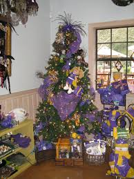 Oak Alley Plantation Gift Shop LSU Christmas Tree