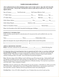 Daycare Contract FAMILY DAYCARE CONTRACT After Reading The By