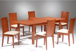 49 Cherry Wood Kitchen Table And Chairs Dining Room Black Leather Elegant By