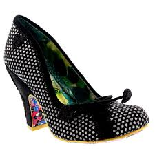 ladies irregular choice flexi lexi court shoes bow pumps mid heels